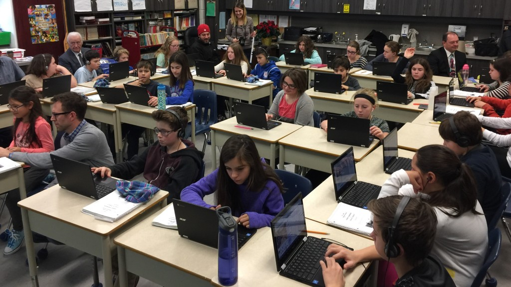 Grade 6, 7 and 8 students at St Luke Catholic School were introduced to computer science and programming through the Hour of Code on Friday.