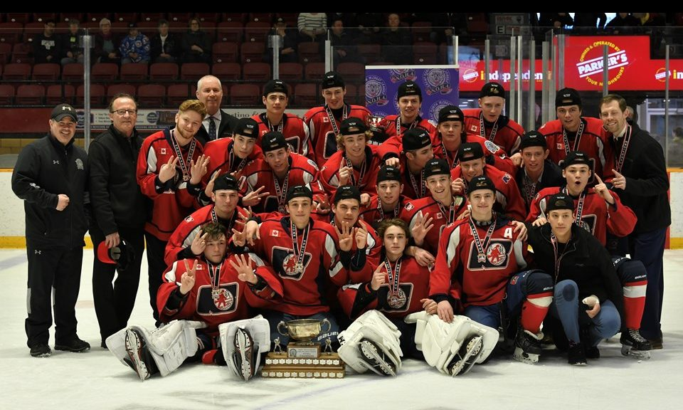 The North Bay Midget AAA Trappers played their 2nd game Tuesday at the OHF  championship in Clarington.